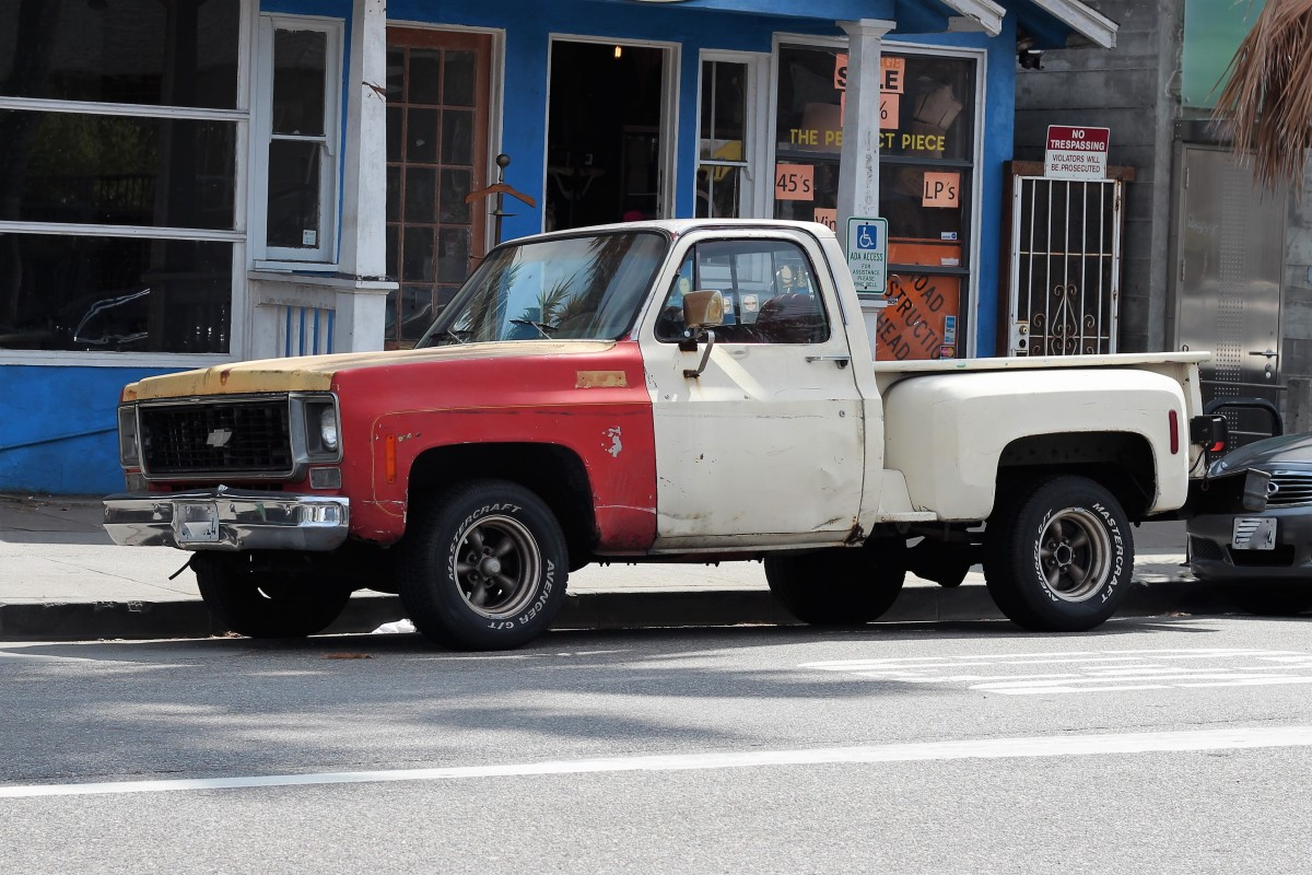 Chevy Silverado Wiki >> 1973 Chevy C-10 Step side Pickup – LA Car Spotting