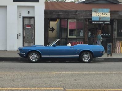 Convertible Mustang 1969 blue